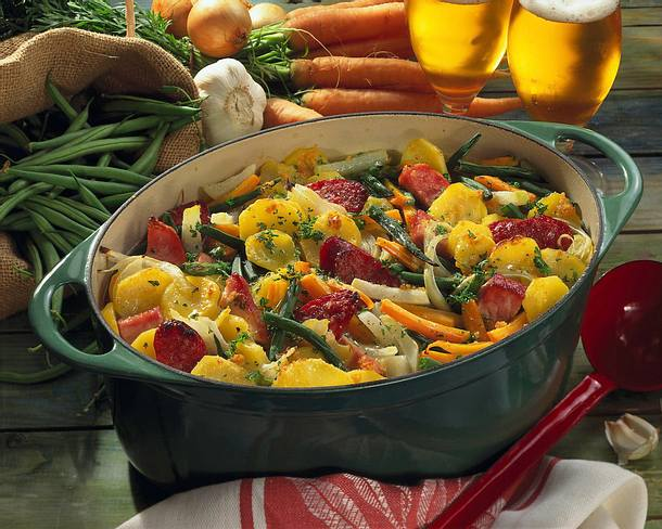 Gemüse-Topf mit Kasseler Rezept