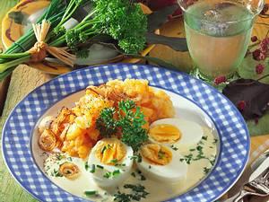 Gemüse und Senfeier Rezept