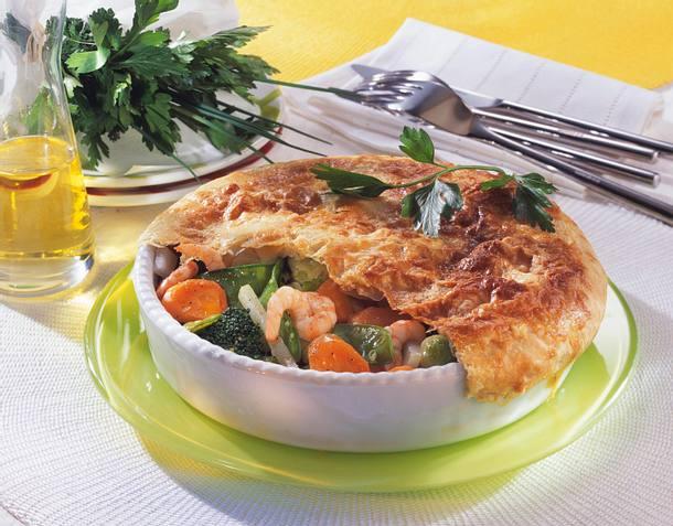 Gemüse unter der Blätterteighaube Rezept