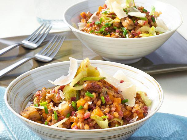 Gemüse-Weizen-Risotto Rezept