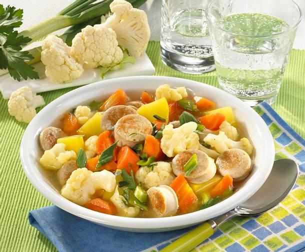 Gemüse-Wurst-Eintopf Rezept