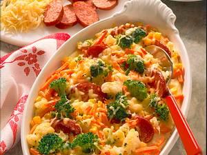 Gemüseauflauf mit Cabanossi Rezept