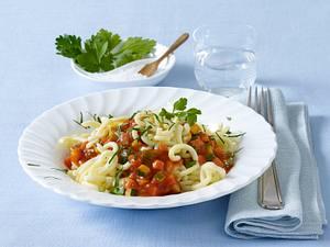 Gemüsebolognese mit Gabelspaghetti (Diäko Tag 6 Hauptgericht) Rezept