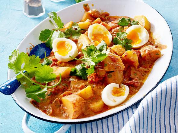 Gemüsecurry mit wachsweichen Eiern Rezept
