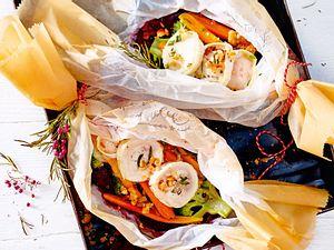 Gemüsegeschenk mit Ziegenkäse und Brotcrunch Rezept