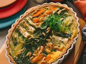 Gemüsekuchen mit Pinienkernen Rezept