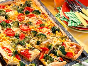 Gemüsekuchen mit Schmandguss Rezept