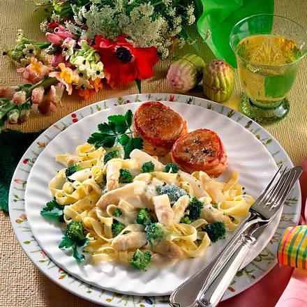 Gemüsenudeln mit Mascarponesoße Rezept