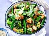 Gemüsepfanne mit Hähnchen, Zuckerschoten und Brokkoli Rezept