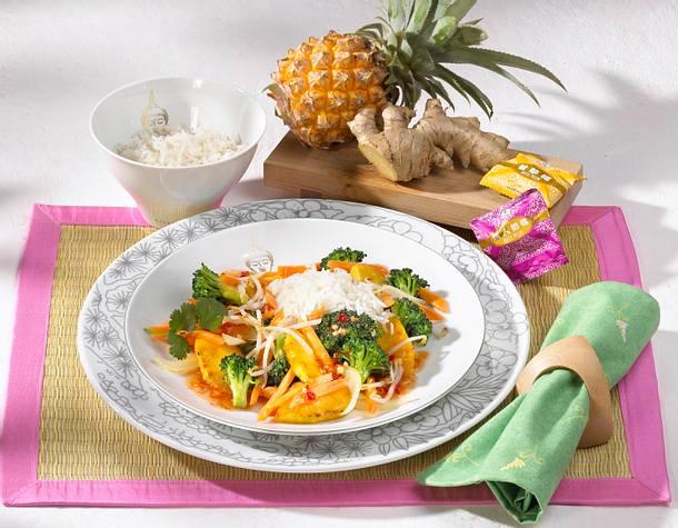 Gemüsepfanne süß-sauer Rezept