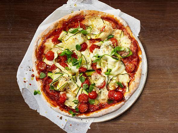 Gemüsepizza mit Booster-Boden Rezept