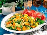 Gemüseplatte mit geräuchertem Schinken Rezept