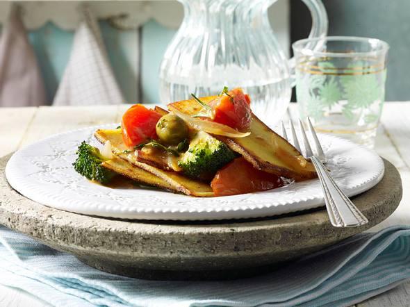 Gemüsepolenta (Frascatula di polenta di grano e verdure) Rezept