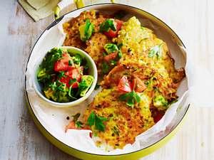 Gemüsepuffer mit Avocado-Salsa Rezept