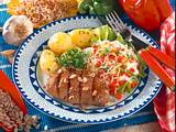 Gemüsequark mit Pellkartoffeln und gegrilltem Rind Rezept