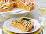 Gemüsequiche mit Crème-fraîche-Guss Rezept