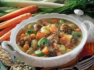 Gemüseragout mit Bratling-Klößchen Rezept