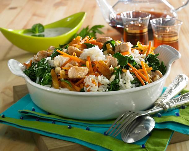Gemüsereis mit Putenschnitzel Rezept