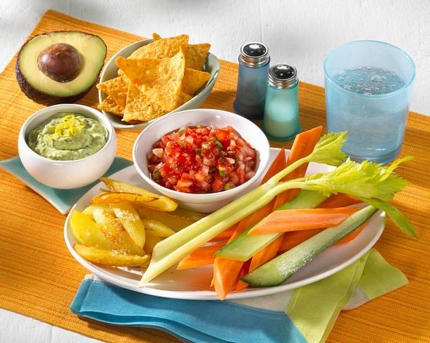 Gemüsesticks mit zwei Dips Rezept