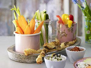 Gemüsesticks mit zweierlei Dips Rezept