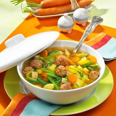 Fleischklößchensuppe