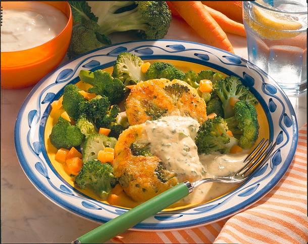 Gemüsetaler mit Dip Rezept