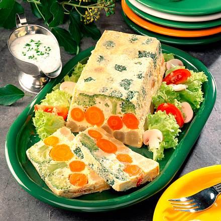 Gemüseterrine und Joghurtsoße Rezept
