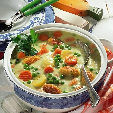 Gemüsetopf mit Hirseklößchen Rezept