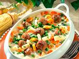 Gemüsetopf mit Mettbällchen Rezept