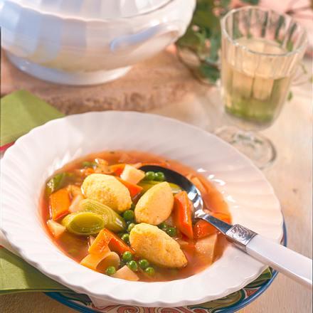 Gemüsetopf mit Polentaklößchen Rezept