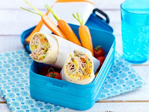 Gemüse-Wraps mit Putenbrust Rezept