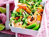 Gemüsenudel-Salat mit Garnelen Rezept