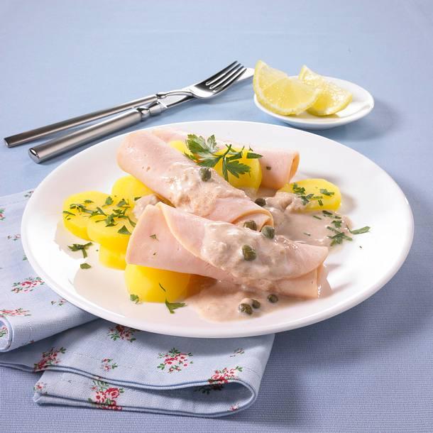 Geräucherte Putenbrust mit Thunfisch-Dip (Diät) Rezept