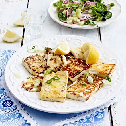 Gerösteter Feta & gemischter Salat Rezept