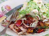 Geröstetes Hähnchen mit Fenchel-Paprika-Gemüse Rezept