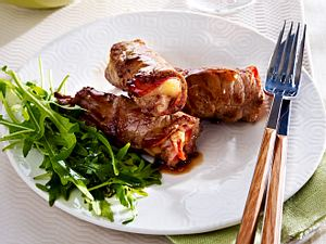Gerollte Kalbsschnitzel mit Chorizo und Manchego Rezept