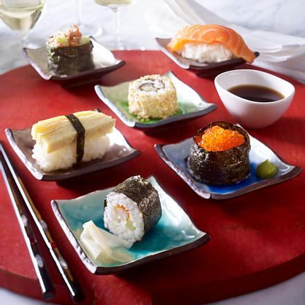 Gerollte Sushi (Gunkan-Sushi) Rezept