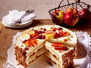 Geschichtete Apfeltorte mit Mascarponecreme Rezept