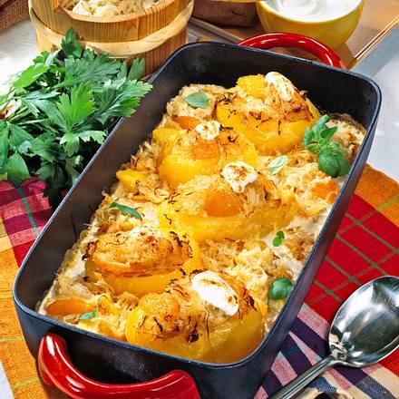 Geschmorte gefüllte Kartoffeln Rezept