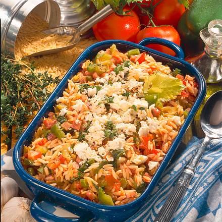 Geschmorte Gemüse Nudeln griechische Art Rezept