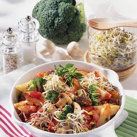 Geschmorte Kartoffel-Sprossen-Pfanne Rezept