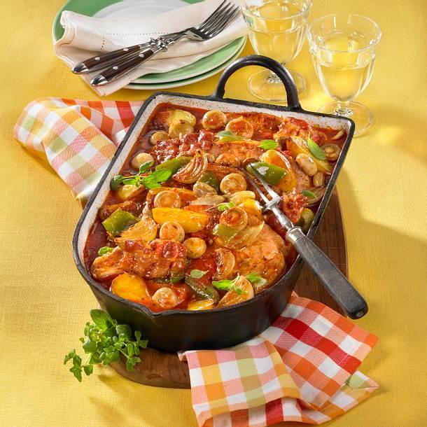 Geschmorte Koteletts in Tomatensoße Rezept