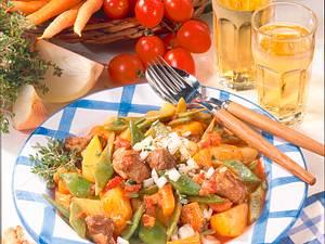 Geschmortes Gemüse mit Lamm Rezept