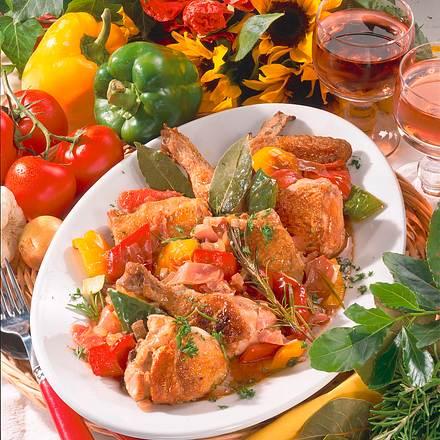 Geschmortes Paprika-Hähnchen Rezept