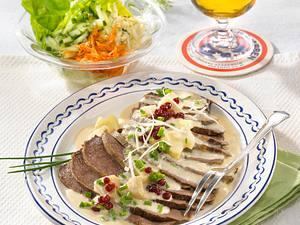 Geschmortes Rindfleisch in Meerrettichsoße Rezept