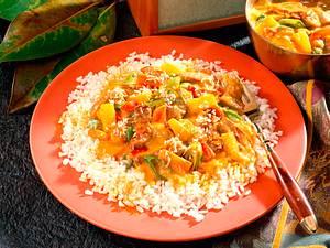 Geschnetzeltes auf indische Art Rezept