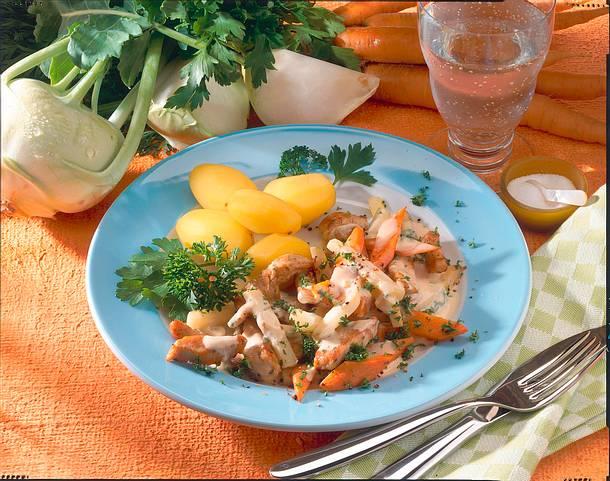 Geschnetzeltes mit zartem Gemüse (Diabetiker) Rezept