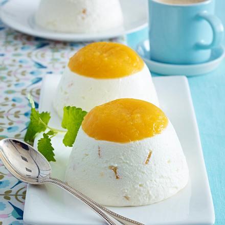 Gestürzte Pfirsich-Joghurt-Creme Rezept