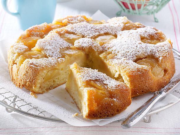 Gestürzter Apfel-Joghurt-Kuchen
