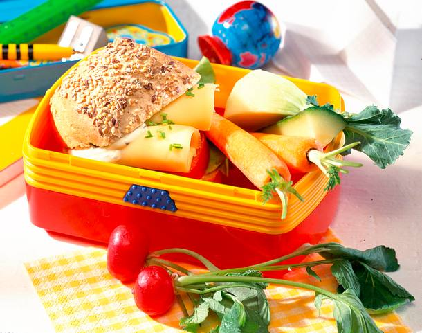 Gesundes Pausenbrot mit Gemüse Rezept